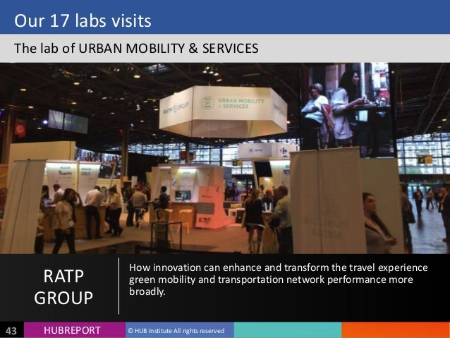 HUB  REPORTHUBREPORT ©  HUB  Institute  All  rights  reserved43 Our  17  labs  visits The  lab  of ...
