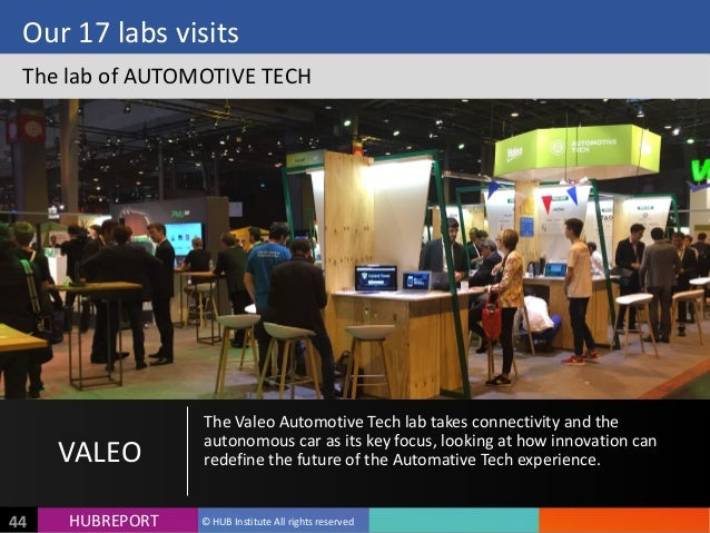 HUB  REPORTHUBREPORT ©  HUB  Institute  All  rights  reserved44 Our  17  labs  visits The  lab  of ...