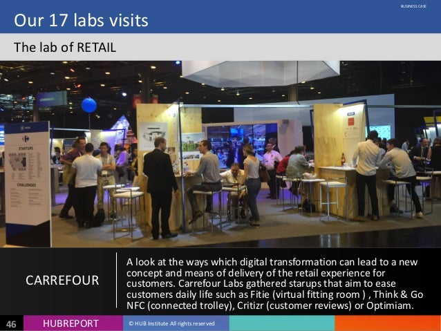 HUB  REPORTHUBREPORT ©  HUB  Institute  All  rights  reserved46 Our  17  labs  visits The  lab  of ...