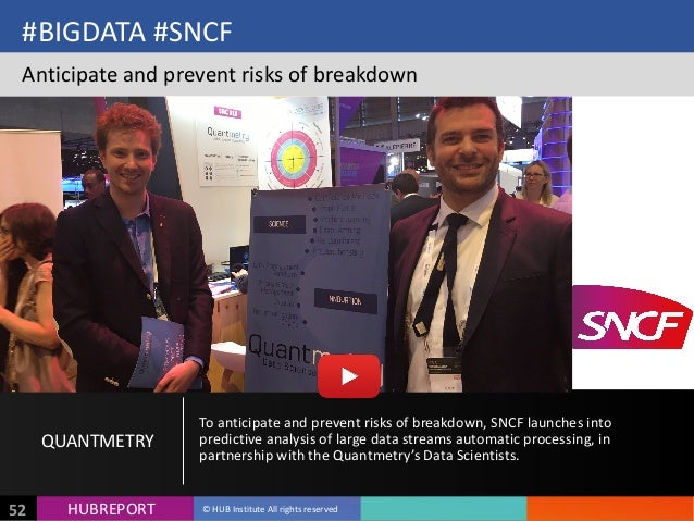 HUB  REPORTHUBREPORT ©  HUB  Institute  All  rights  reserved52 #BIGDATA  #SNCF Anticipate  and  prevent...