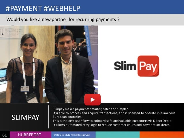 HUB  REPORTHUBREPORT ©  HUB  Institute  All  rights  reserved61 #PAYMENT  #WEBHELP Would  you  like  a...