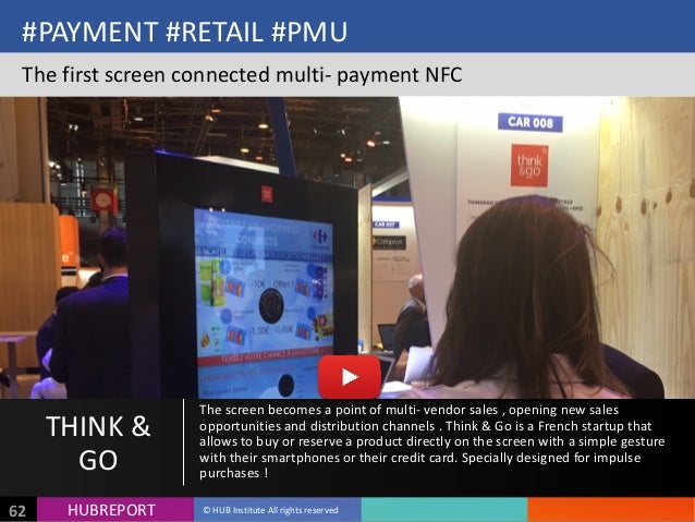 HUB  REPORTHUBREPORT ©  HUB  Institute  All  rights  reserved62 #PAYMENT  #RETAIL  #PMU The  first  sc...