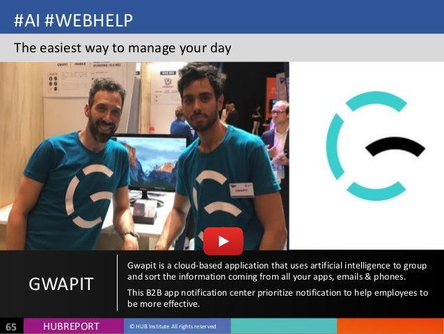 HUB  REPORTHUBREPORT ©  HUB  Institute  All  rights  reserved65 #AI  #WEBHELP The  easiest  way  to  ...