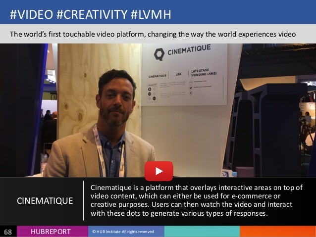 HUB  REPORTHUBREPORT ©  HUB  Institute  All  rights  reserved68 #VIDEO  #CREATIVITY  #LVMH The  world's...