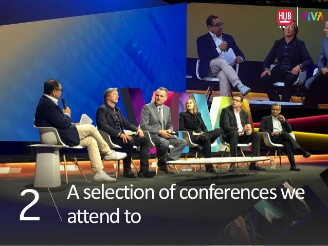 A  selection  of  conferences  we   attend  to2
