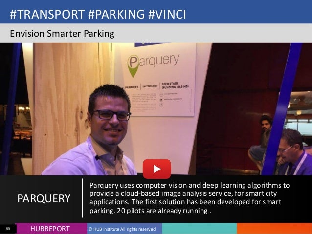 HUB  REPORTHUBREPORT ©  HUB  Institute  All  rights  reserved80 #TRANSPORT  #PARKING  #VINCI Envision  S...