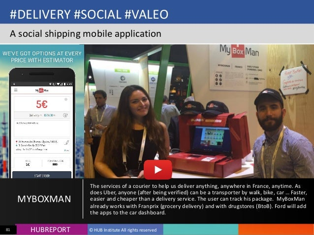 HUB  REPORTHUBREPORT ©  HUB  Institute  All  rights  reserved81 #DELIVERY  #SOCIAL  #VALEO A  social  ...