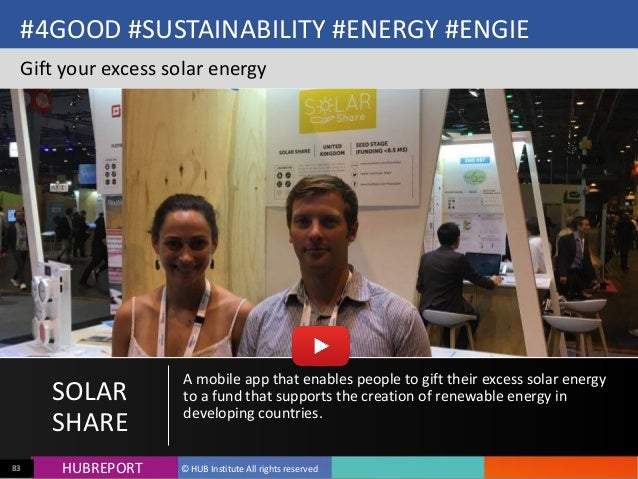 HUB  REPORTHUBREPORT ©  HUB  Institute  All  rights  reserved83 #4GOOD  #SUSTAINABILITY  #ENERGY  #ENGIE...