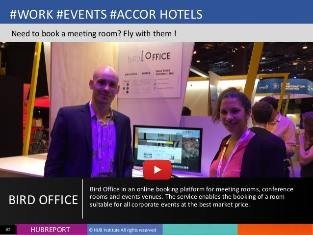 HUB  REPORTHUBREPORT ©  HUB  Institute  All  rights  reserved87 #WORK  #EVENTS  #ACCOR  HOTELS Need  t...