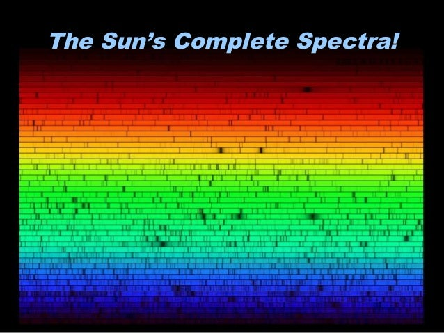 The Sun's Complete Spectra!