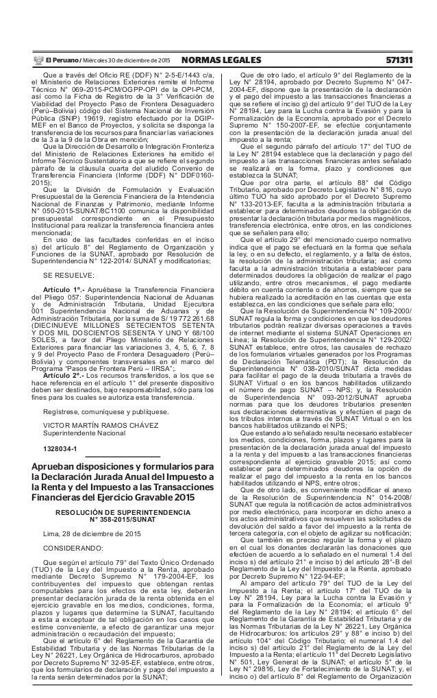 Declaracion Jurada 2015 Cronograma
