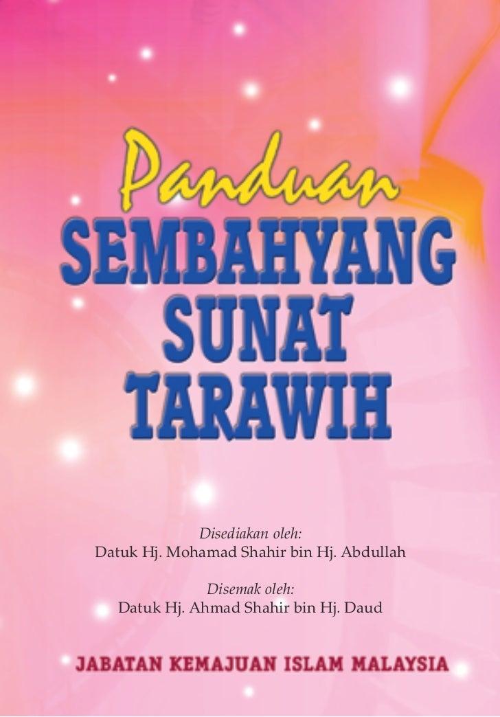 Disediakan oleh:Datuk Hj. Mohamad Shahir bin Hj. Abdullah               Disemak oleh:   Datuk Hj. Ahmad Shahir bin Hj. Dau...