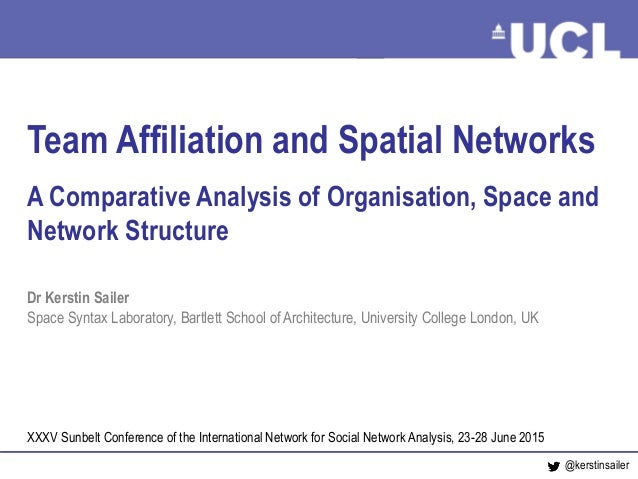 Networks, Teams and Space June 2015 Team Affiliation and Spatial Networks A Comparative Analysis of Organisation, Space an...