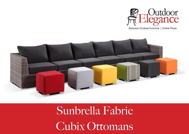 Sunbrella Fabric Cubix Ottomans