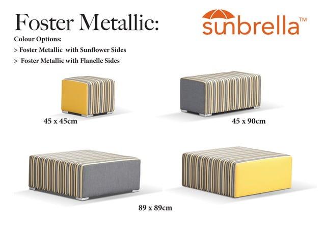 Foster Metallic:Colour Options: > Foster Metallic with Sunflower Sides > Foster Metallic with Flanelle Sides 45 x 45cm 45 ...
