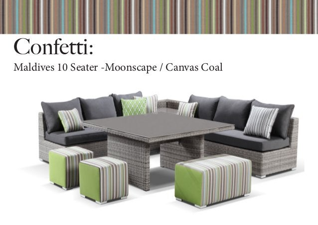 Confetti: Maldives 10 Seater -Moonscape / Canvas Coal
