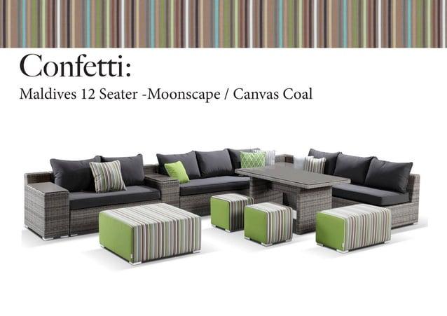 Confetti: Maldives 12 Seater -Moonscape / Canvas Coal