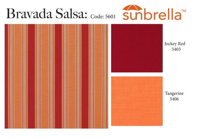 Bravada Salsa: Code: 5601 Jockey Red 5403 Tangerine 5406