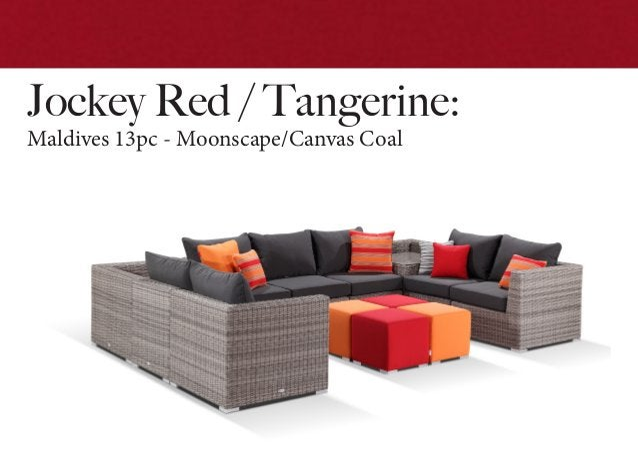 Jockey Red / Tangerine: Maldives 13pc - Moonscape/Canvas Coal