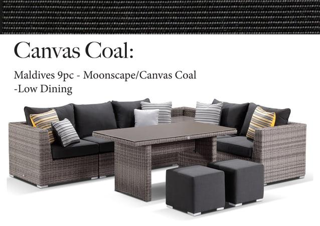 Canvas Coal: Maldives 9pc - Moonscape/Canvas Coal -Low Dining