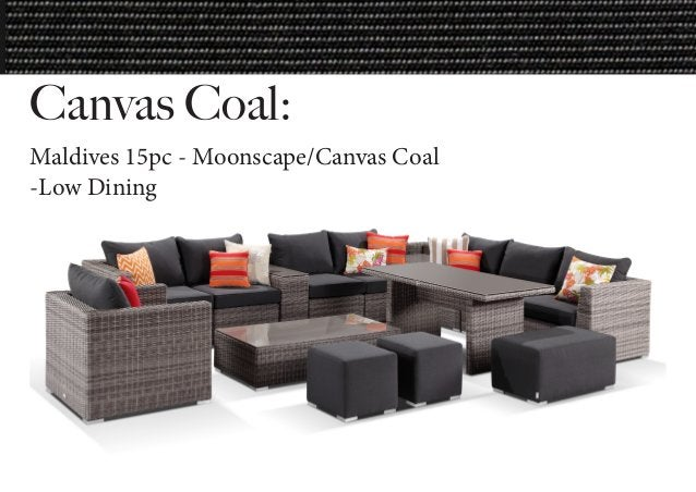 Canvas Coal: Maldives 15pc - Moonscape/Canvas Coal -Low Dining