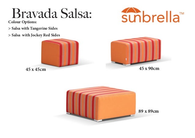 - Sunbrella Ottomans By Outdoor Elegance