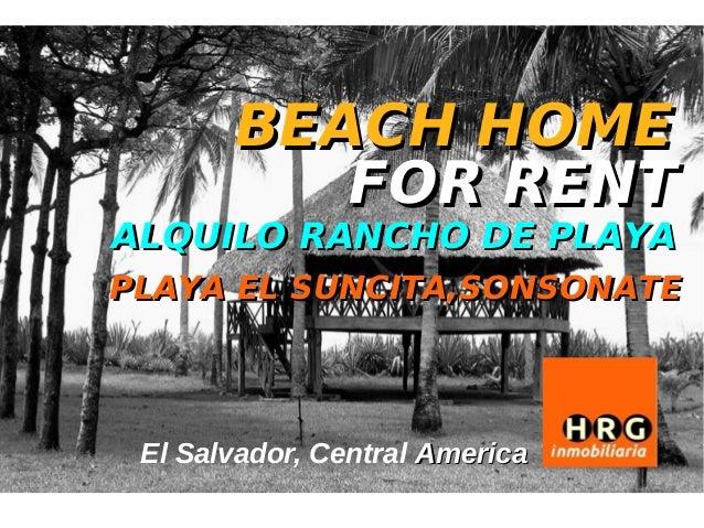 BEACH HOME          FOR RENTALQUILO RANCHO DE PLAYAPLAYA EL SUNCITA,SONSONATE El Salvador, Central America