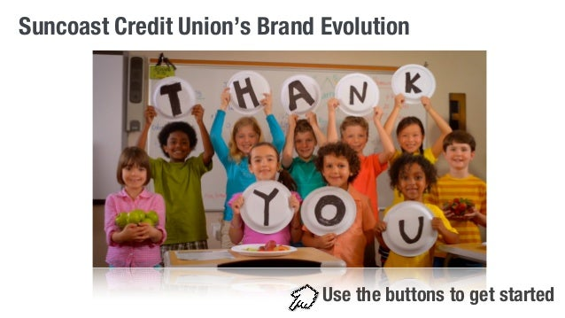 Suncoast Credit Union's Brand Evolution  Use the buttons to get started