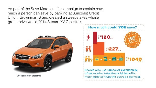 As part of the Save More for Life campaign to explain how  much a person can save by banking at Suncoast Credit  Union, Gr...