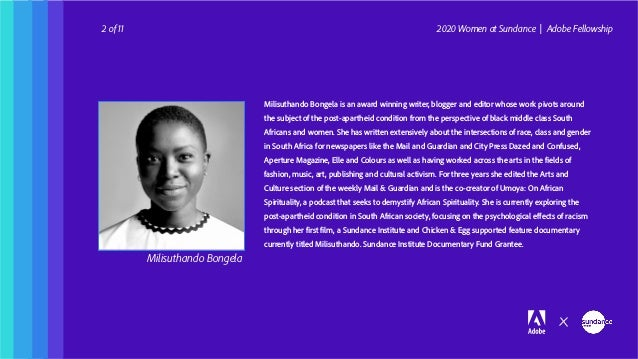 The Inaugural Cohort of Women at Sundance | Adobe Fellowship  Slide 3