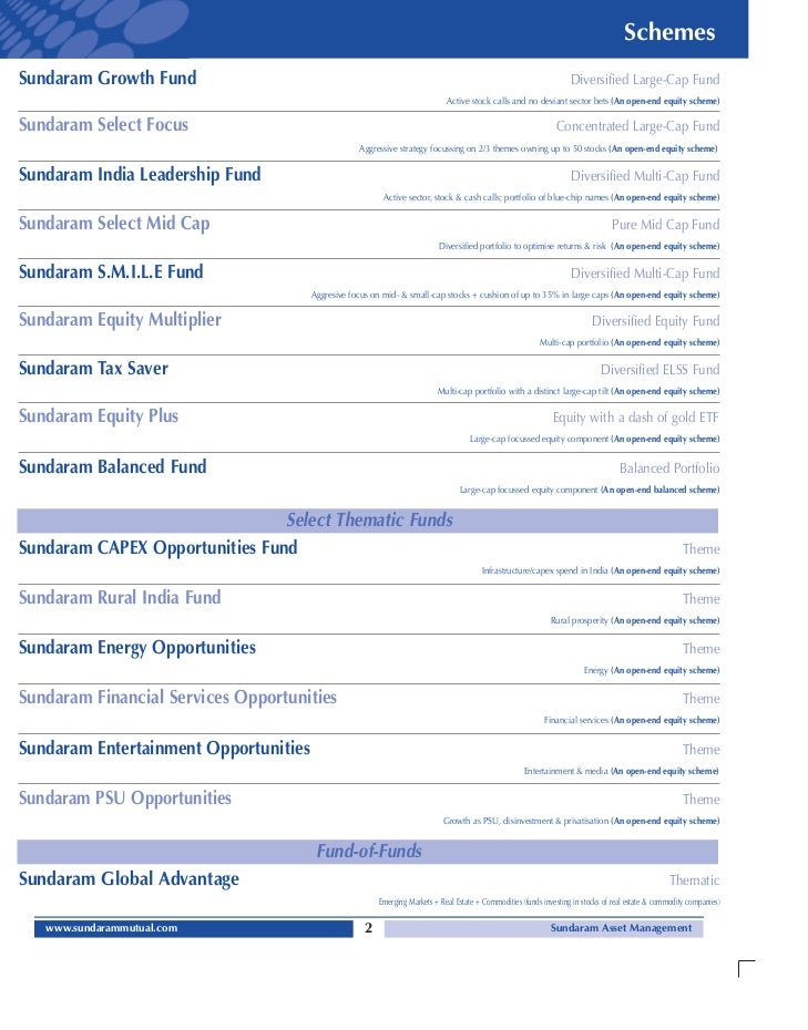 Sundaram mutual fund common application form equity with kim