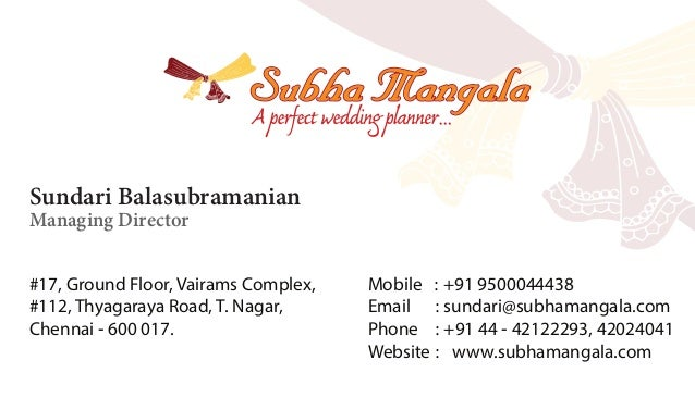 Sundari business card sundari business card sundari balasubramanian managing director 17 ground floor vairams complex 112 colourmoves Choice Image