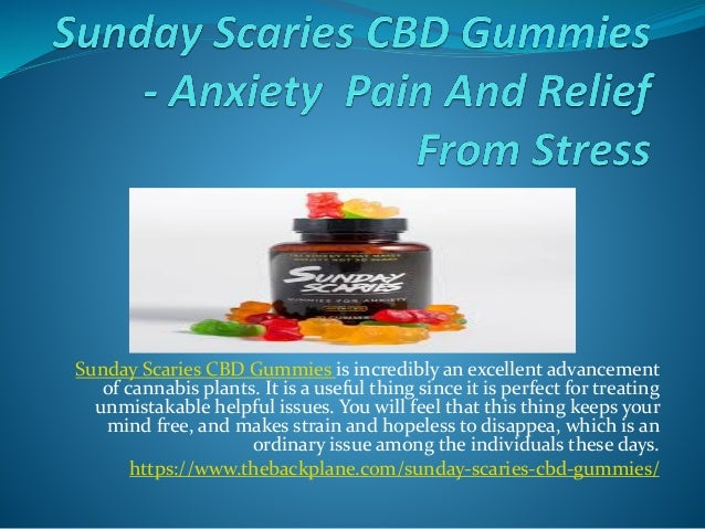 Sunday Scaries CBD Gummies - Anxiety Pain And Relief