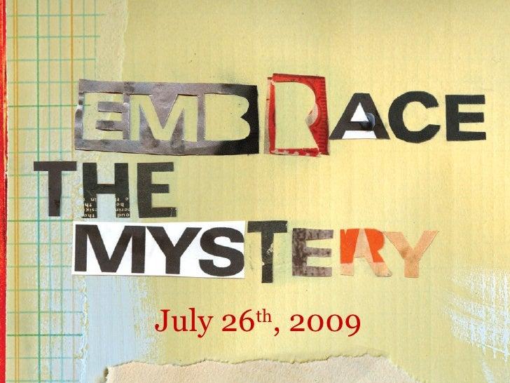 July 26 th , 2009
