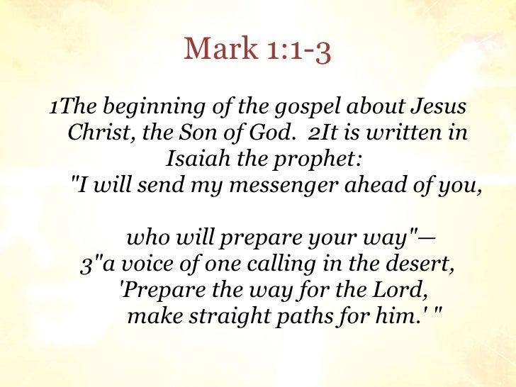 Mark 1 1 >> Sunday School Lesson 2009 09 06