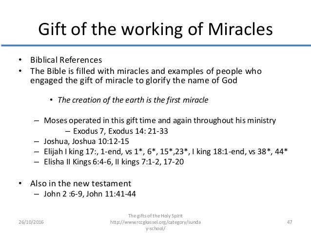 Gift of the working of miracles gifts of the holy spirit gift of the working of miracles biblical references negle Choice Image
