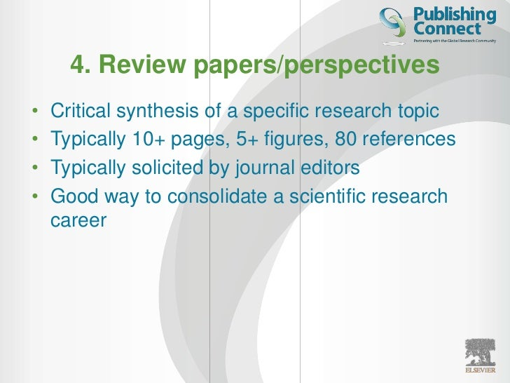 Tips for Publishing in Scientific Journals