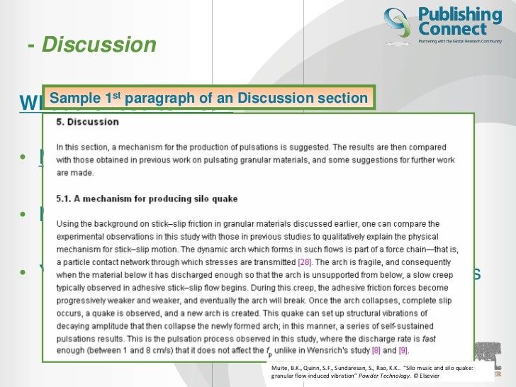 how to write the discussion section of a research paper