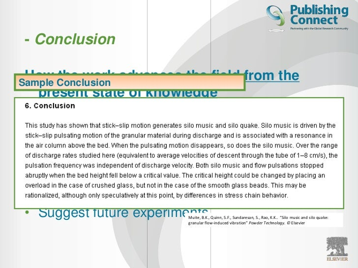 science report conclusions