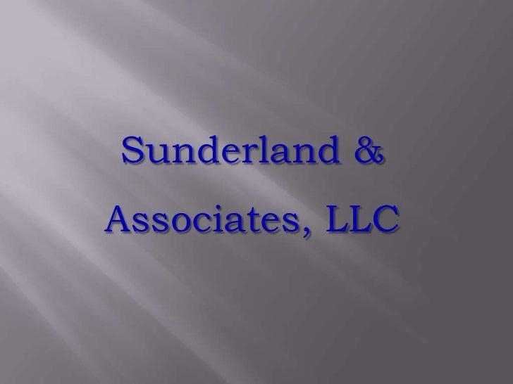 Sunderland &<br />Associates, LLC<br />