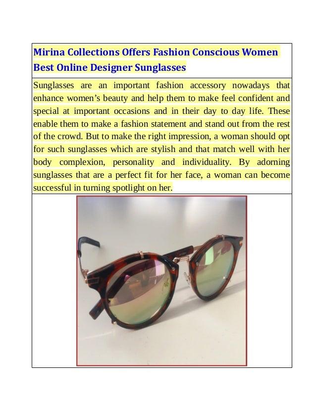 sunglasses offers online  Mirina Collections Offers Fashion Conscious Women Best Online Designe\u2026