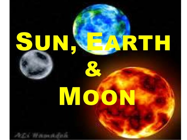 how the sun moon and earth are related - photo #23