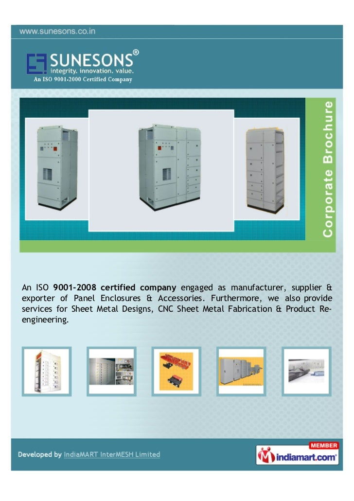 An ISO 9001-2008 certified company engaged as manufacturer, supplier &exporter of Panel Enclosures & Accessories. Furtherm...
