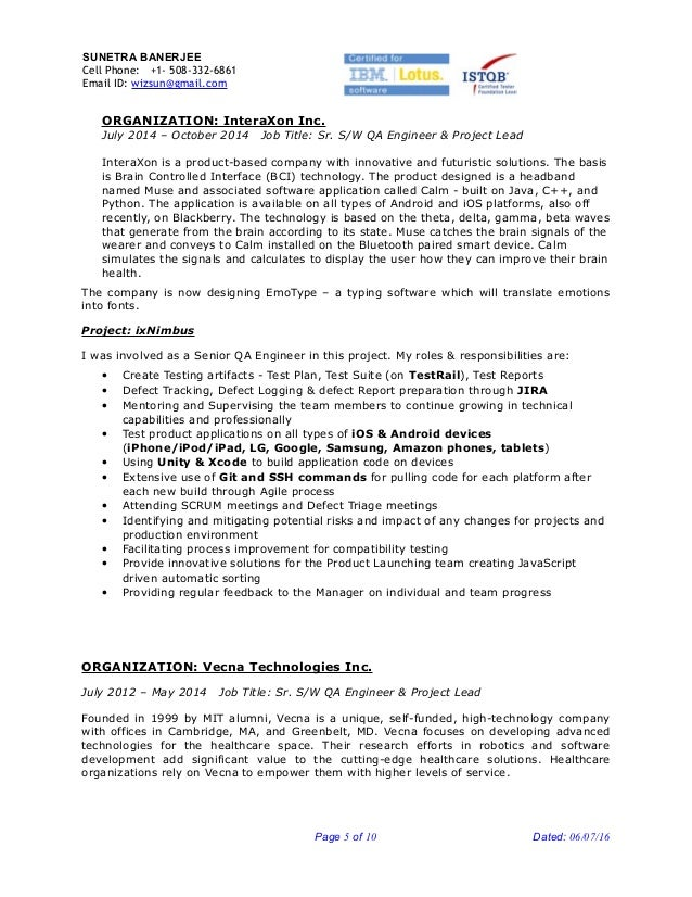 qa engineer job description template resume sample gregory l pittman