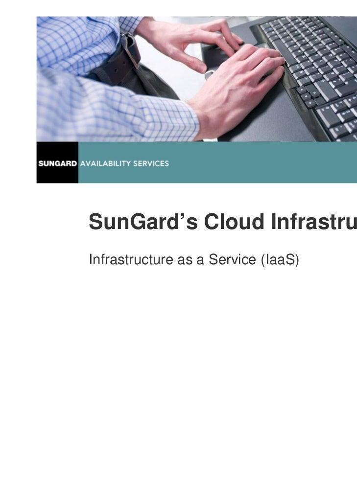 SunGard's Cloud InfrastructureInfrastructure as a Service (IaaS)                                     www.sungard.co.uk