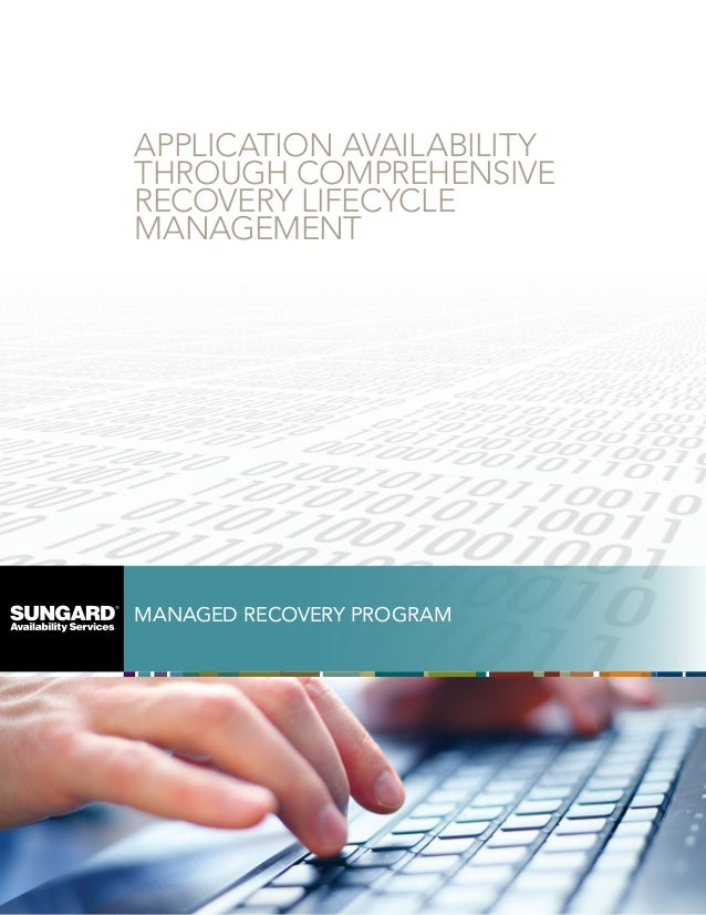 APPLICATION AVAILABILITY THROUGH COMPREHENSIVE RECOVERY LIFECYCLE MANAGEMENT  MANAGED RECOVERY PROGRAM