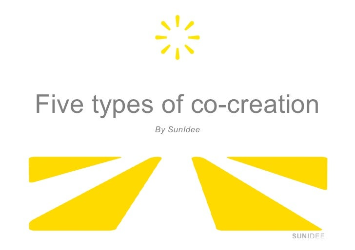 Five types of co-creation           By SunIdee