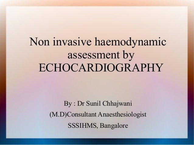 Sunil Echo In Haemodynamics