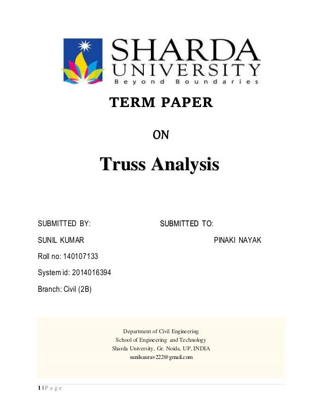 Term paper analysis
