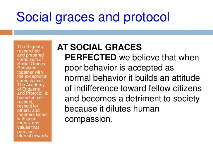 Importance of social graces